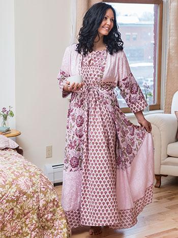 Bohemian Rose Dressing Gown