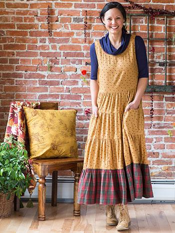 Honey Flower Pinafore Dress