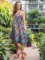 Copper Madras Dress