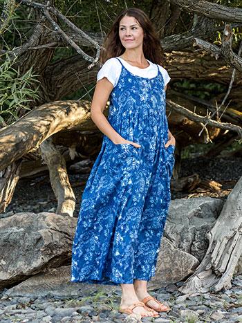 Indigo Rose Dress