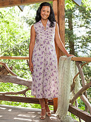 Lilac Ladies Porch Dress