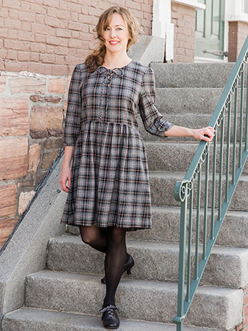 French Check Ladies Dress