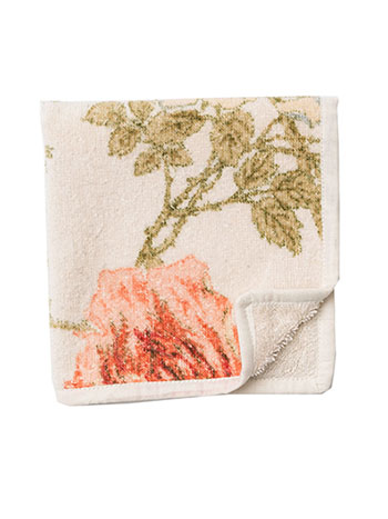 Rose Nouveau Terry Face Towel