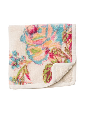 Victorian Rose Terry Face Towel - Antique