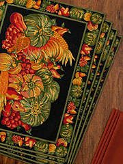 Harvest Placemat Set/4 - Black