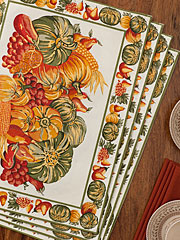 Harvest Placemat Set/4 - Ecru