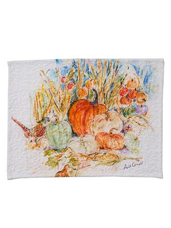Pumpkins & Pheasant Placemat Set/4