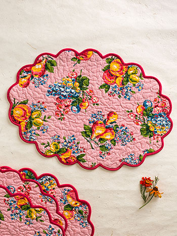 Fruit Basket Placemat Quilted S/4