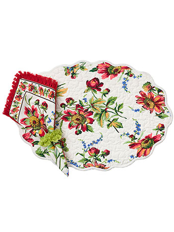 Friendship Placemat Quilted Set/4