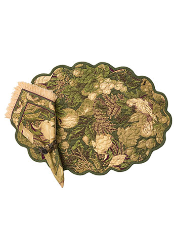 Nature Study Quilted Placemat Set/4