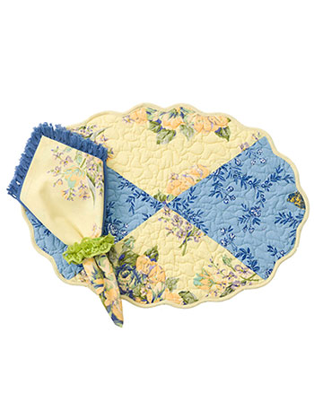Provence Patchwork Placemat - Quilted Set/4