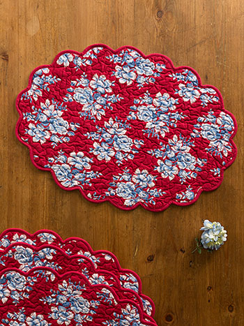Willa Rose Placemat Quilted S/4