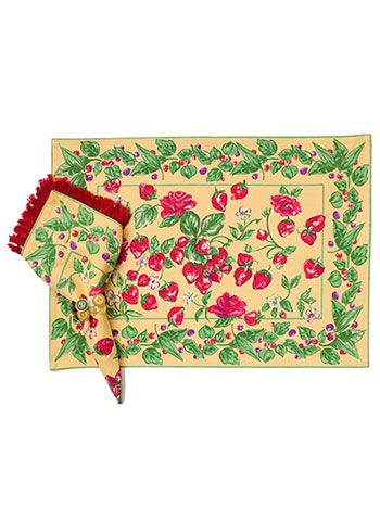 Strawberry Placemat Set/4