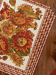 Sunflower Placemat Set/4 - Ecru
