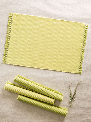 Essential Placemats Set/4 - GreenYellow