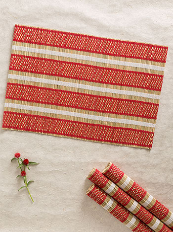 Straw Mat Placemat S/4