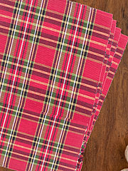 Tartan Plaid Rib Placemat Set/4