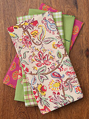 Bright Patchwork Napkin Set/4