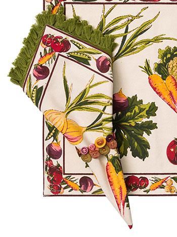 Farm Fresh Napkin Set/4 - Ecru
