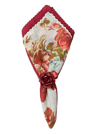 Heirloom Rose Linen Napkin Set/4