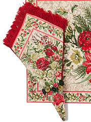 Merry Napkin Set/4 - Antique