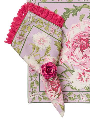 Rose Nouveau Napkin Set/4 - Orchid