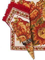 Sunflower Napkin Set/4 - Ecru