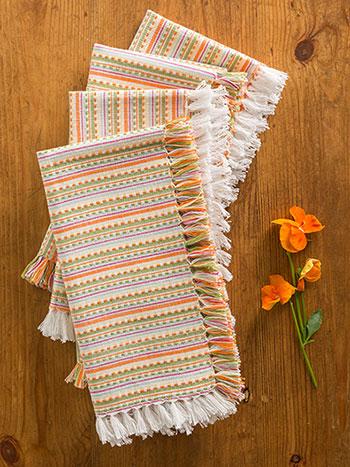 Confetti Stripe Napkin S/4