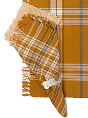 Honey Plaid Napkin Bundle Set/4