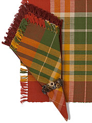 Nutmeg Plaid Napkin Bundle Set/4