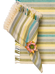 Citrine Stripe Napkin Set/4