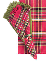 Tartan Plaid Napkin Bundle Set/4