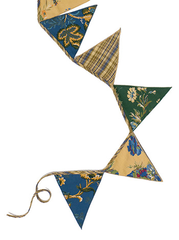 Winter Provence Patchwork Pennants