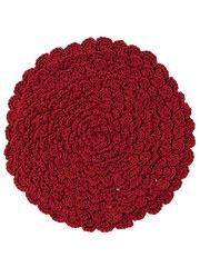 Crochet Trivet Novelty Potholder - Red