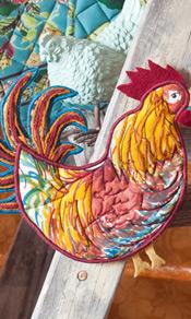 Rooster Novelty Potholder