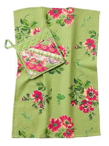 Bright Patchwork Pocket Potholder Set