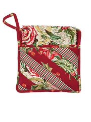Joyful Patchwork Pocket Potholder Set