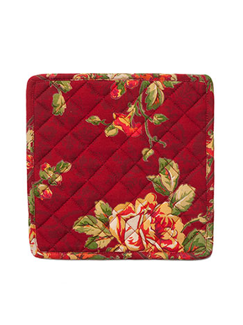 Tea Rose Potholder Set/2 - Brick