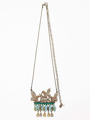 Birds on Blue Necklace