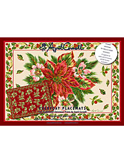 Christmas Traditional Paper Placemats Set/24