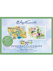 Watercolor Floral Peony Placemat Set/24