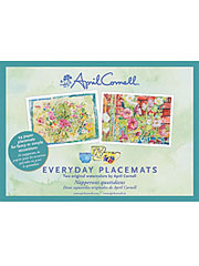 Watercolor Floral Roses Placemat Set/24