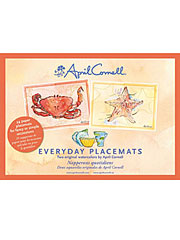 Watercolor Seaside Crab Placemat Set/24