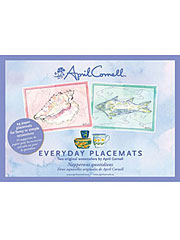 Watercolor Seaside Shell Placemat Set/24