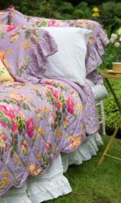 Victorian Rose Quilt - Lavender