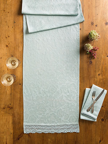 Luxurious Linen Jacquard Runner