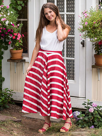 Fair Stripe Skirt