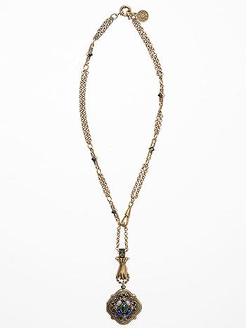 Vintage Clover Locket Necklace