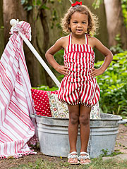 Fair Stripe Girls Sunsuit