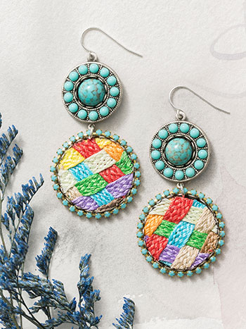Woven Brights Earrings